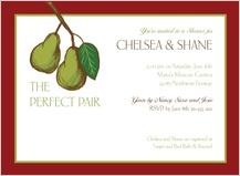 Wedding Shower Invitation - pears