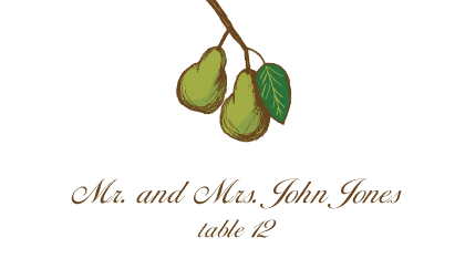 Place Card - Pears