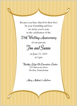 Anniversary Party Invitation - formal stripes