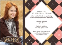 Graduation Party Invitation - argyle