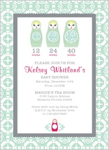 Baby Shower Invitation - nesting dolls
