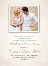 Anniversary Party Invitation - rustic charm anniversary invitation