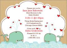 Baby Shower Invitation - splish-splash baby shower invite