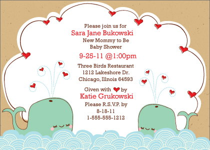Baby Shower Invitation - splish-splash baby shower invite
