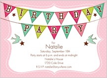 Birthday Party Invitation - birthday banner