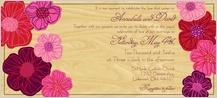 Wedding Invitation - poppy blooms