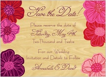 Save the Date Card - poppy blooms