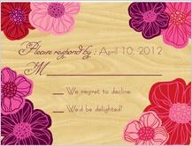 Response Card - poppy blooms