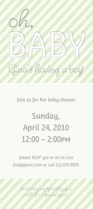 Baby Shower Invitation - Oh, Baby