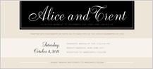 Wedding Invitation - at monogram