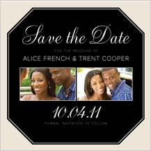 Save the Date Card with photo - at monogram