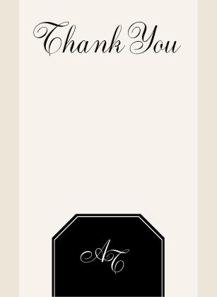 Wedding Thank You Card - AT Monogram