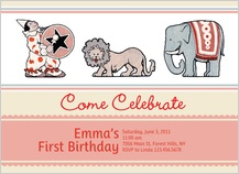 Birthday Party Invitation - circus fun for girls