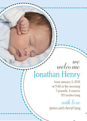 Birth Announcement - a stitch in time