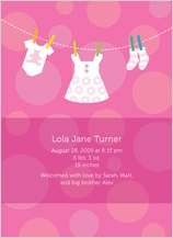 Birth Announcement - baby dots