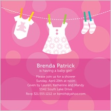 Baby Shower Invitation - baby dots