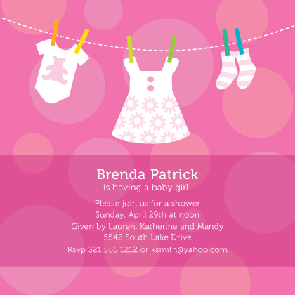 Baby Shower Invitation - Baby Dots