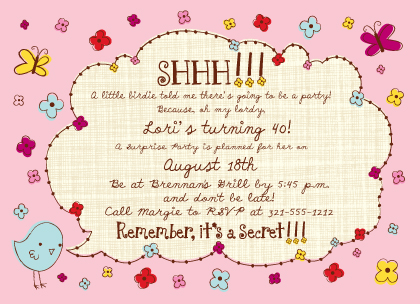 Birthday Party Invitation - A little birdie told me...