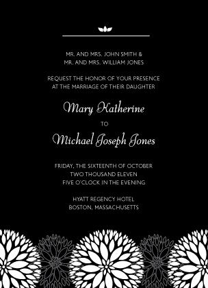 Wedding Invitation - Graphic Flowers