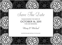 Save the Date Card - graphic flowers