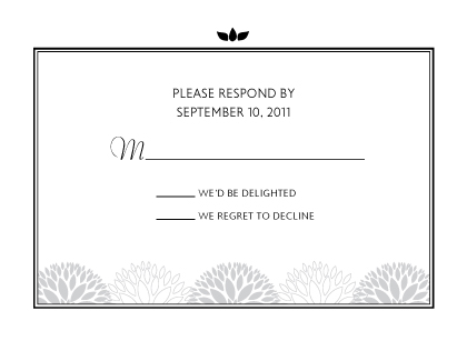 Response Card - Graphic Flowers