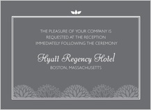 Reception Card - graphic flowers