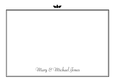 Wedding Thank You Card - Graphic Flowers