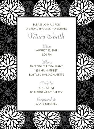 Wedding Shower Invitation - Graphic Flowers