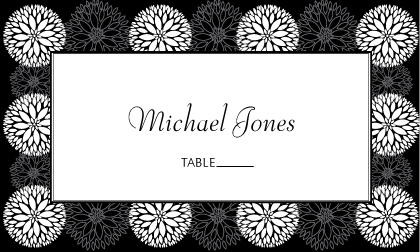 Place Card - Graphic Flowers