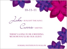 Save the Date Card - floral pellucidity