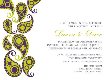 Wedding Invitation - Paisley Pickles