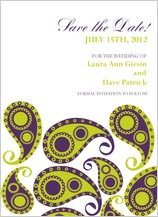 Save the Date Card - paisley pickles