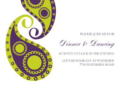 Reception Card - Paisley Pickles