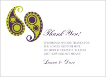 Wedding Thank You Card - paisley pickles