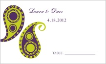 Place Card - paisley pickles