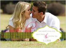 Save the Date Card with photo - love flourishes