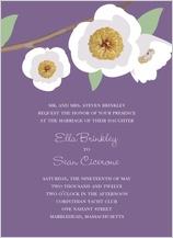 Wedding Invitation - modern peony