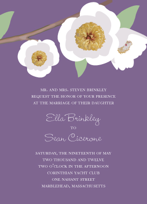 Wedding Invitation - Modern Peony