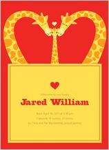Birth Announcement - loving giraffes
