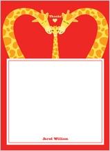 Baby Thank You Card - loving giraffes