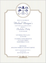 Bachelor Party Invitation - gentleman's night out