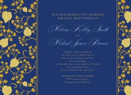 Wedding Invitation - Begonia Leaves Lattice