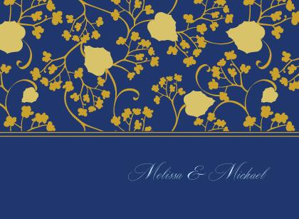 Wedding Thank You Card - Begonia Leaves Lattice