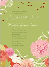 Wedding Invitation - floating mums