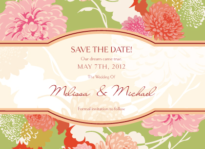 Save the Date Card - Floating Mums