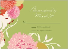 Response Card - floating mums