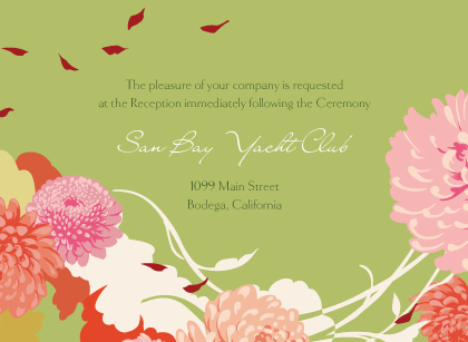 Reception Card - Floating Mums