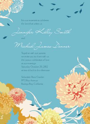 Wedding Invitation - Floating Mums