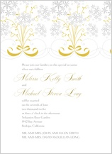Wedding Invitation - star flowers