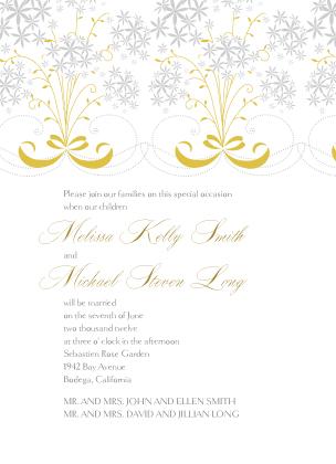Wedding Invitation - Star Flowers